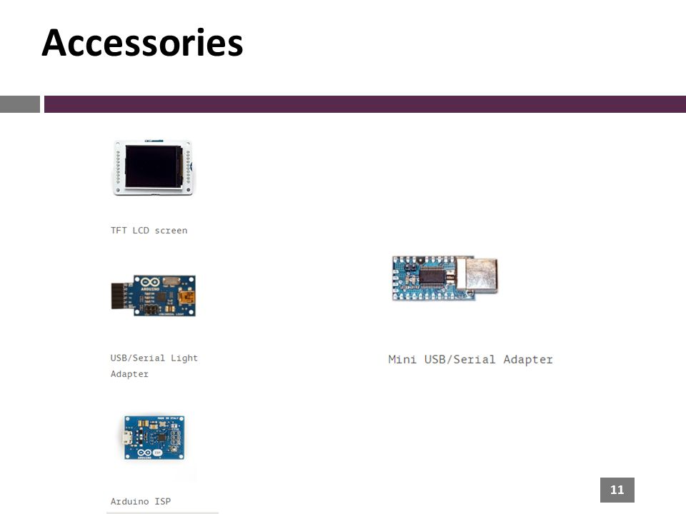 11 Accessories