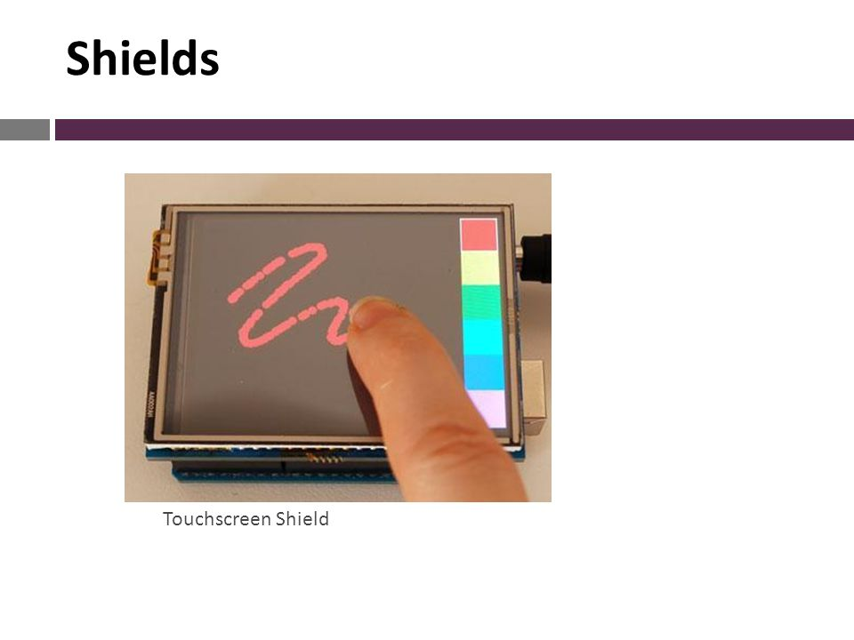 Touchscreen Shield Shields