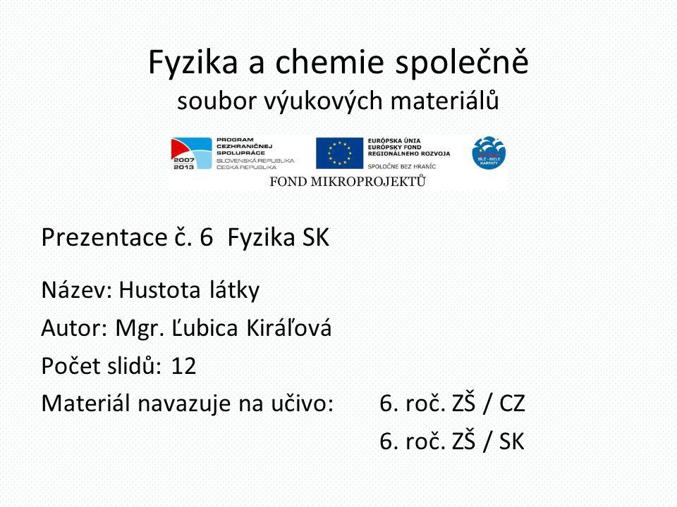 Fyzika a chemie společně Obsah Souboru výukových materiálů: 1 Netradiční zdroje energie / Fyzika CZ 2 Optické vlastnosti oka / Fyzika CZ 3 Sluneční sv