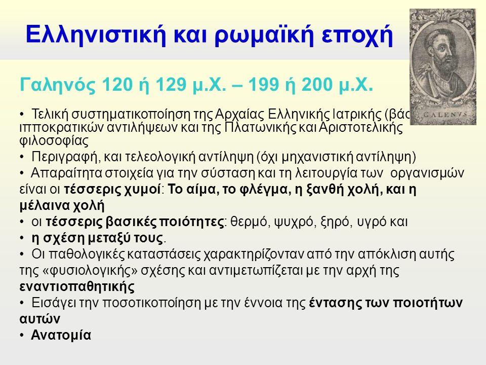 Ελληνιστική και ρωμαϊκή εποχή Γαληνός 120 ή 129 μ.Χ.