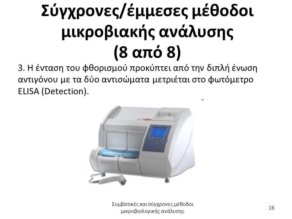 Σύγχρονες/έμμεσες μέθοδοι μικροβιακής ανάλυσης (8 από 8) 3.