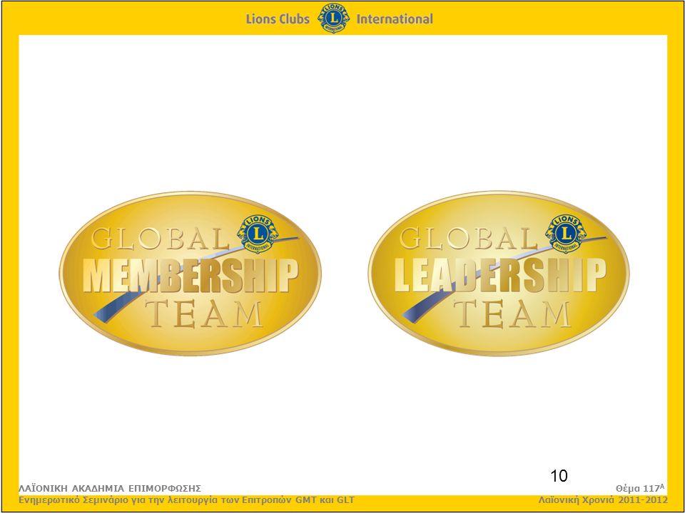10 ΛΑΪΟΝΙΚΗ ΑΚΑΔΗΜΙΑ ΕΠΙΜΟΡΦΩΣΗΣ Θέμα 117 Α Ενημερωτικό Σεμινάριο για την λειτουργία των Επιτροπών GMT και GLT Λαϊονική Χρονιά 2011-2012