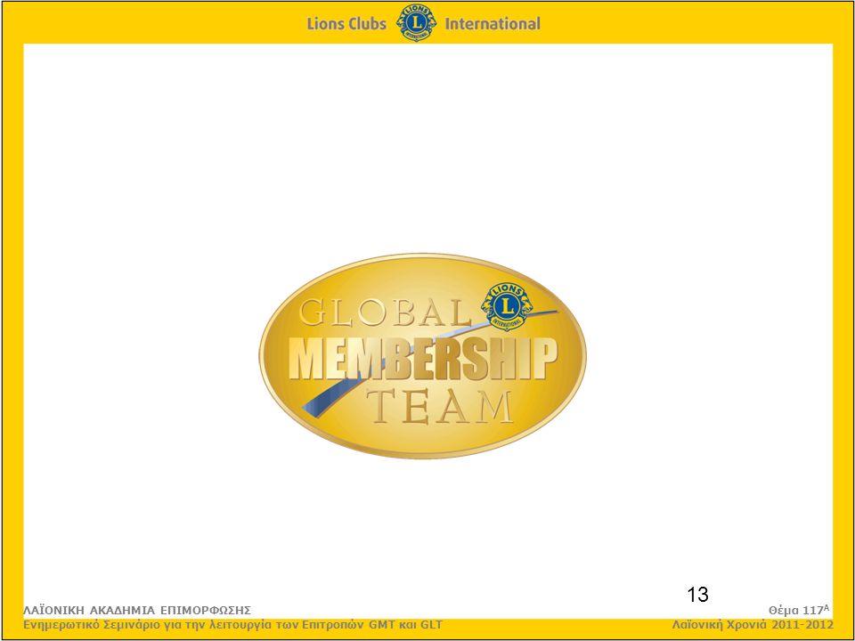 13 ΛΑΪΟΝΙΚΗ ΑΚΑΔΗΜΙΑ ΕΠΙΜΟΡΦΩΣΗΣ Θέμα 117 Α Ενημερωτικό Σεμινάριο για την λειτουργία των Επιτροπών GMT και GLT Λαϊονική Χρονιά 2011-2012