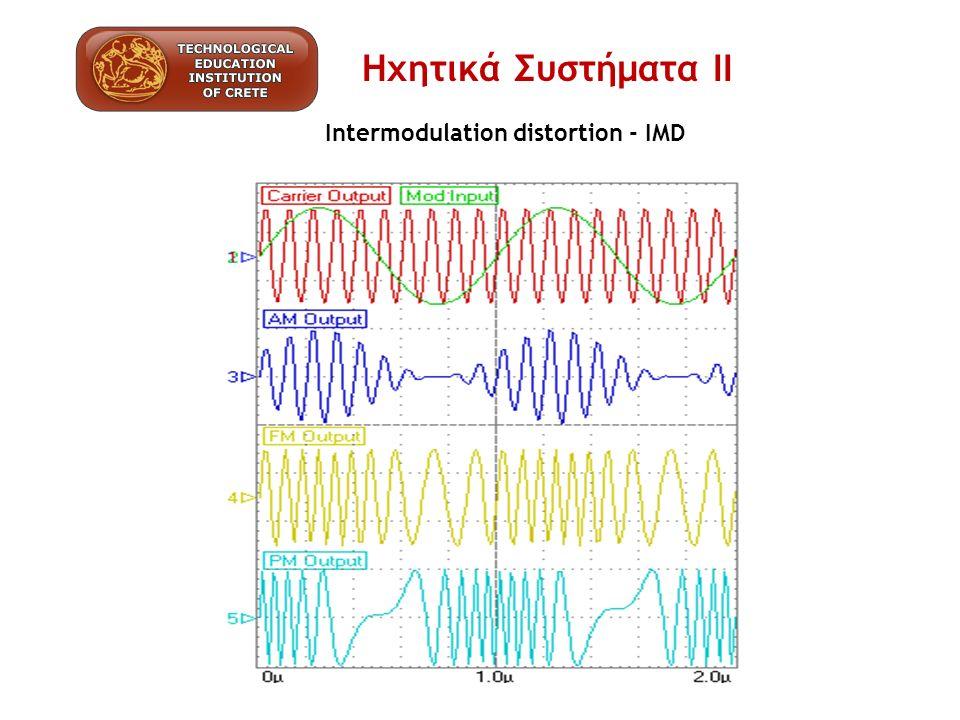 Intermodulation distortion - IMD Ηχητικά Συστήματα ΙΙ