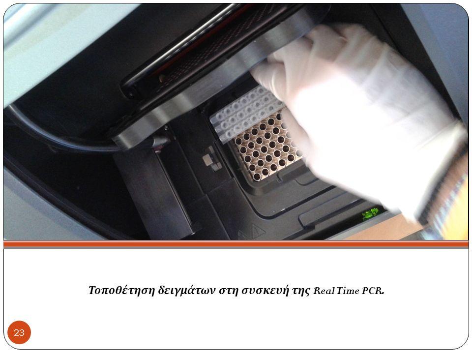 Τοποθέτηση δειγμάτων στη συσκευή της Real Time PCR. 23