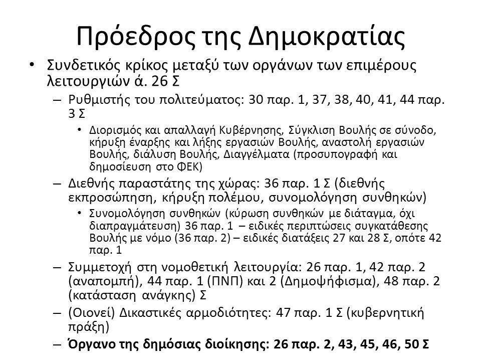 Κανόνες λειτουργίας Άρθρο 35 παρ.