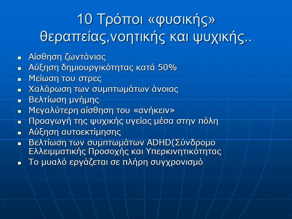 10 Τρόποι «φυσικής» θεραπείας,νοητικής και ψυχικής..