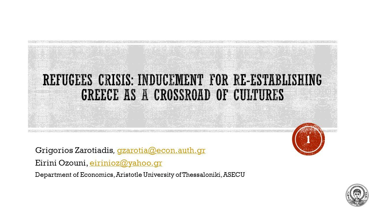 Grigorios Zarotiadis, gzarotia@econ.auth.grgzarotia@econ.auth.gr Eirini Ozouni, eirinioz@yahoo.greirinioz@yahoo.gr Department of Economics, Aristotle University of Thessaloniki, ASECU 1