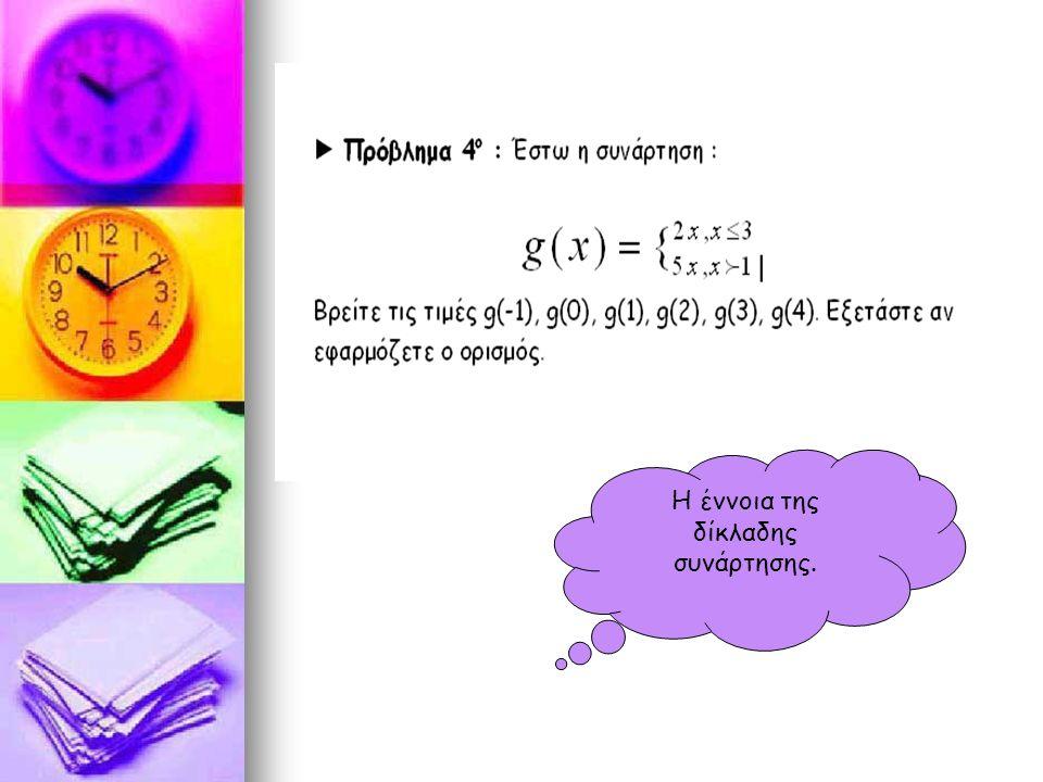 Η έννοια της δίκλαδης συνάρτησης.