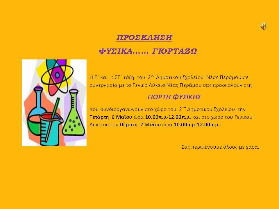 Συνεργασία  Αποφασίσαμε μετά από συζήτηση με τον καθηγητή Φυσικής κ.Βασιλειάδη,να συνεργαστούμε και να συνδιοργανώσουμε τη Γιορτή Φυσικής.