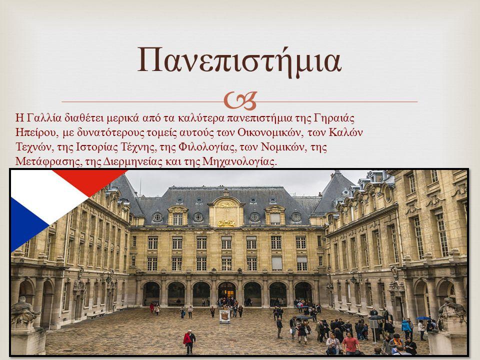  Πανεπιστήμια Η Γαλλία διαθέτει μερικά από τα καλύτερα πανεπιστήμια της Γηραιάς H πείρου, με δυνατότερους τομείς αυτούς των Οικονομικών, των Καλών Τε