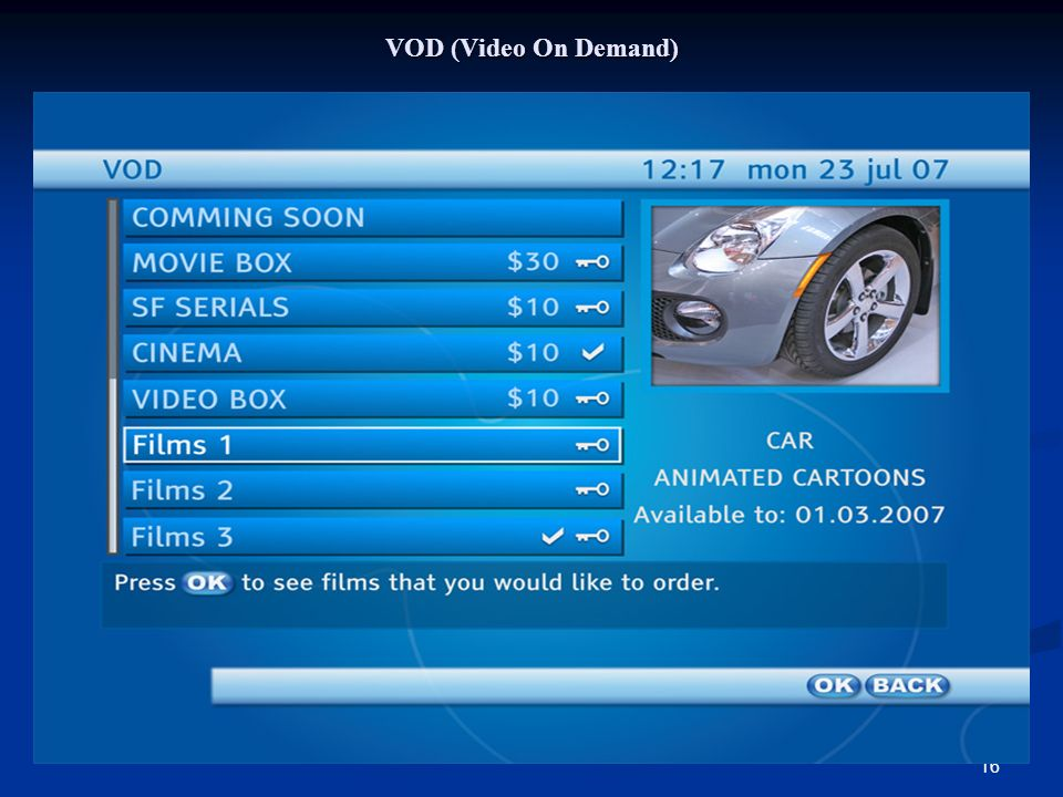 16 VOD (Video On Demand)