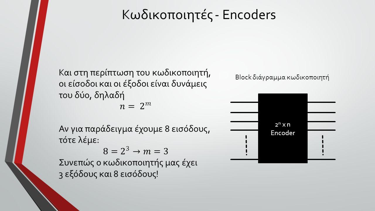 Κωδικοποιητές - Encoders 2 n x n Encoder Block διάγραμμα κωδικοποιητή