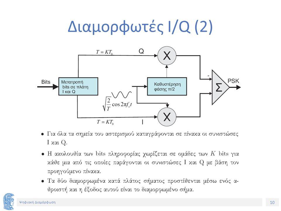 10 Ψηφιακή Διαμόρφωση Διαμορφωτές I/Q (2)