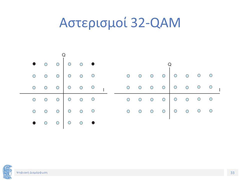 33 Ψηφιακή Διαμόρφωση Αστερισμοί 32-QAM