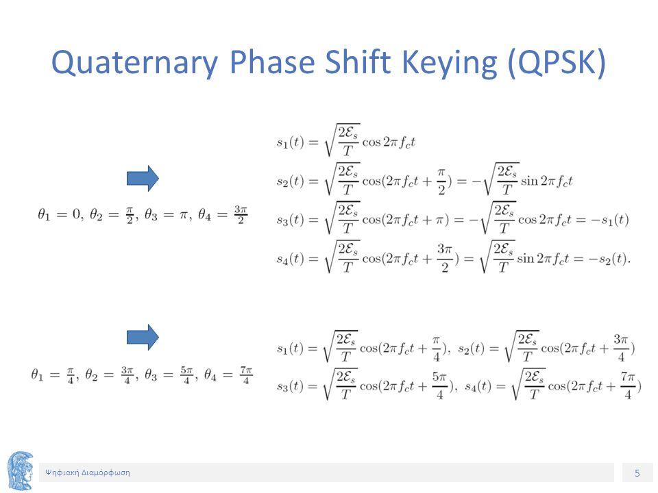 5 Ψηφιακή Διαμόρφωση Quaternary Phase Shift Keying (QPSK)