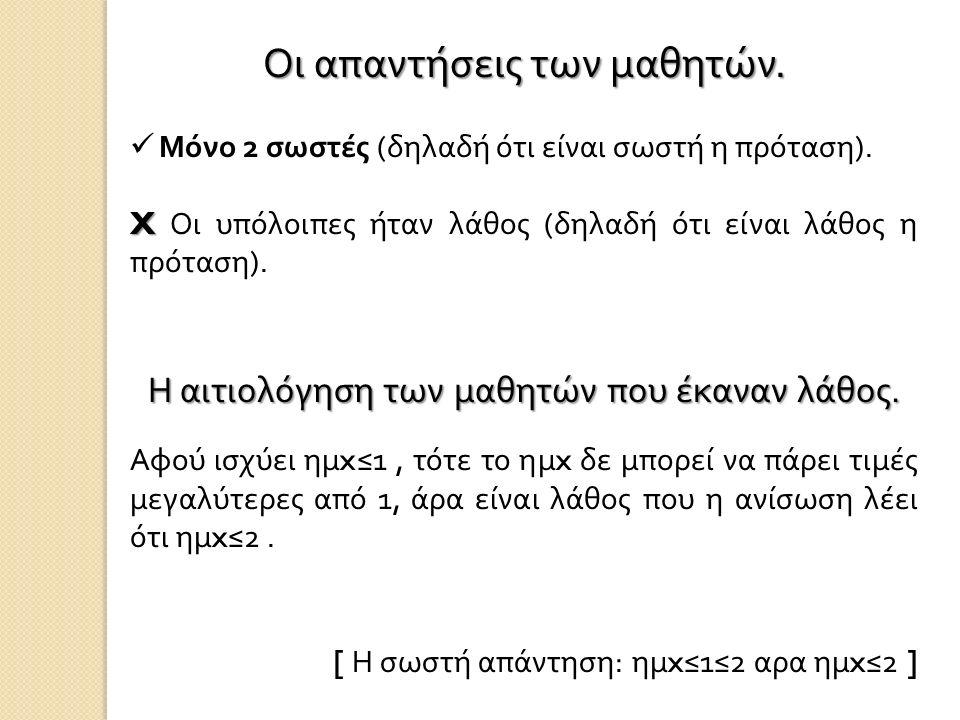 ΒΙΒΛΙΟΓΡΑΦΙΑ – ΑΝΑΦΟΡΕΣ Ζαχαριάδης, Πόταρη, Σακονίδης, Προσεγγίσεις μαθητών και εκπαιδευτικών στην απόρριψη ισχυρισμών : ο ρόλος των αντιπαραδειγμάτων ( Εργασία – άρθρο από την η - Τάξη )
