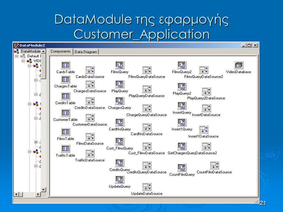 21 DataModule της εφαρμογής Customer_Application