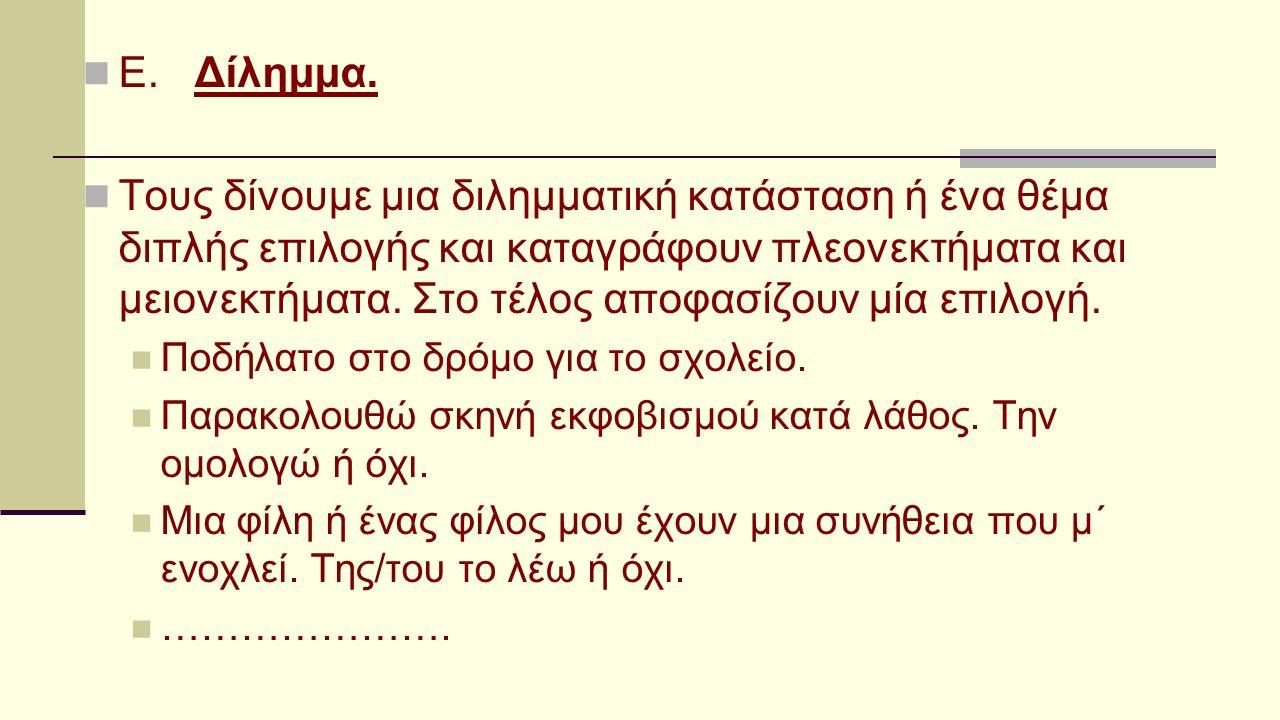 Ε. Δίλημμα.
