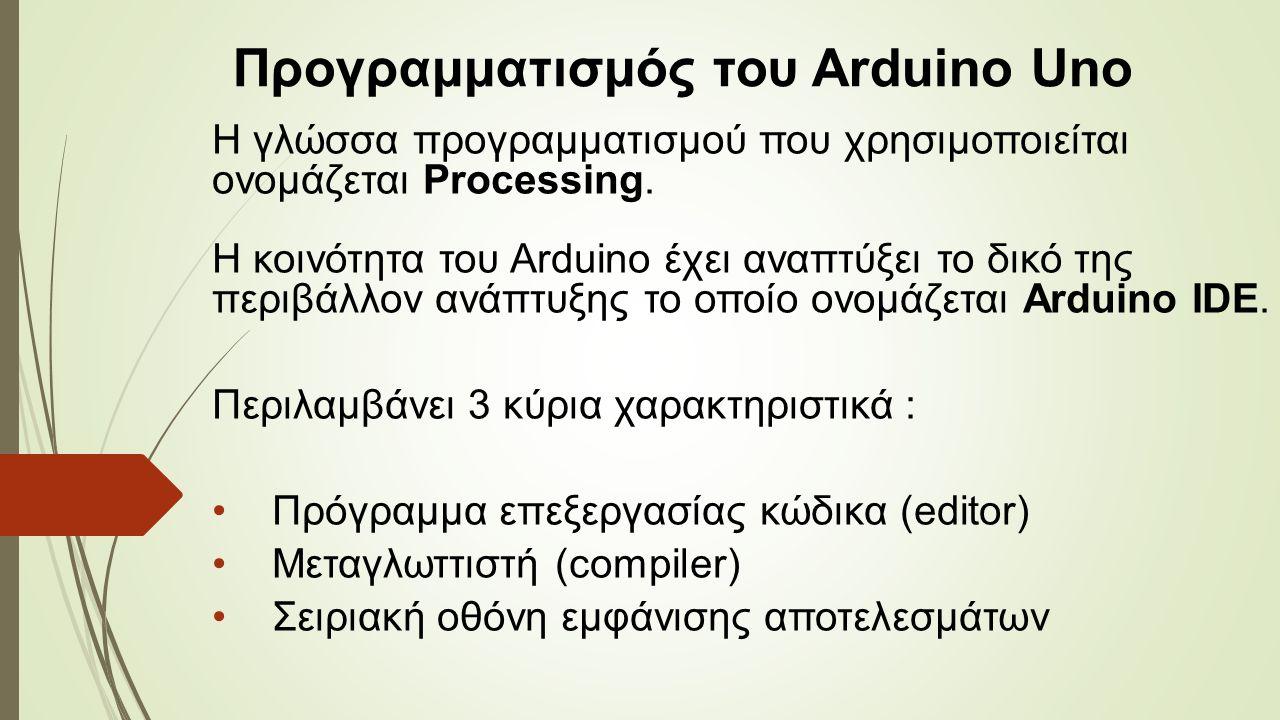 Η γλώσσα προγραμματισμού που χρησιμοποιείται ονομάζεται Processing.