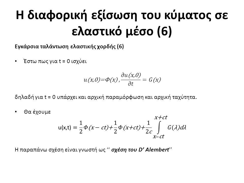 Η διαφορική εξίσωση του κύματος σε ελαστικό μέσο (6)
