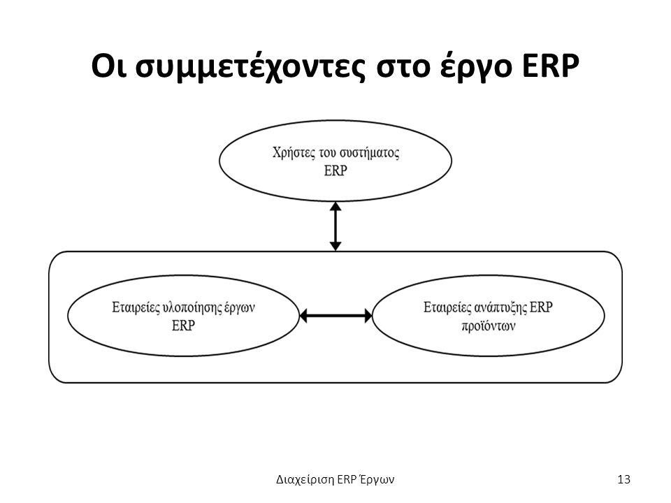 Οι συμμετέχοντες στο έργο ERP Διαχείριση ERP Έργων13