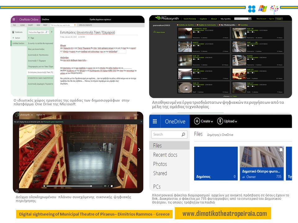 www.dimotikotheatropeiraia.com Digital sightseeing of Municipal Theatre of Piraeus– Dimitrios Rammos - Greece