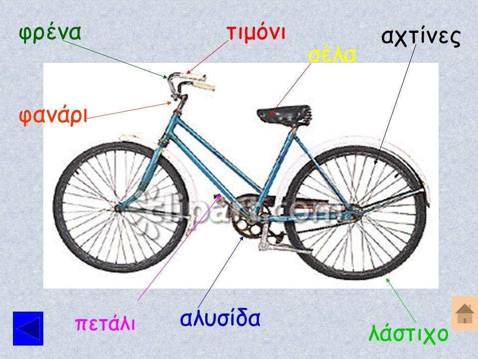 Βλέποντας την επόμενη εικόνα θα μάθεις τα πιο βασικά μέρη του ποδηλάτου σου.
