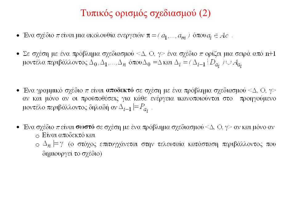 Τυπικός ορισμός σχεδιασμού (2)