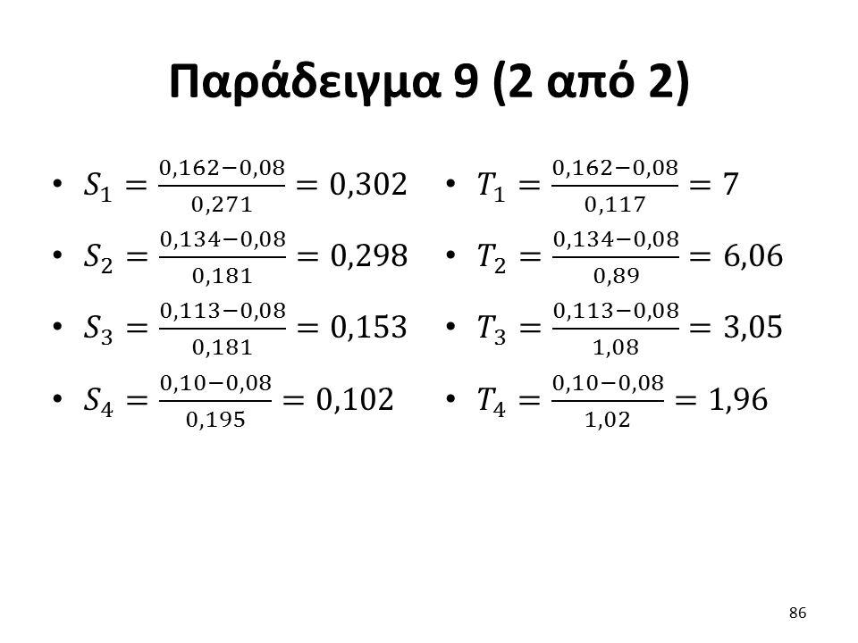 Παράδειγμα 9 (2 από 2) 86