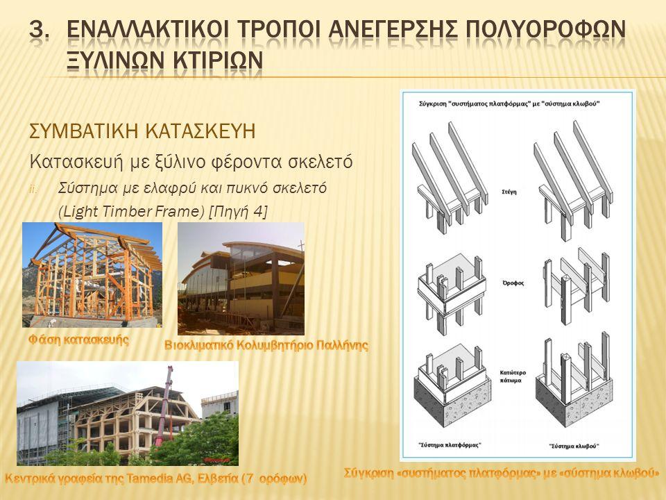 ΣΥΜΒΑΤΙΚΗ ΚΑΤΑΣΚΕΥΗ Κατασκευή με ξύλινη φέρουσα τοιχοποιία – κορμόσπιτο (log house) [Πηγή 5] i.