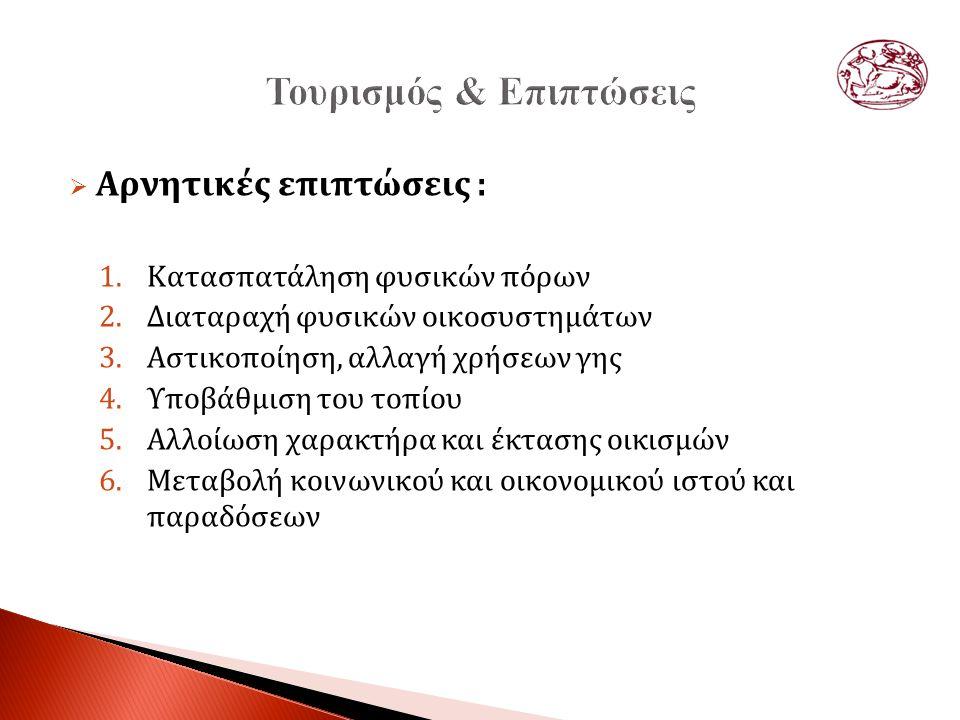  Το πρόβλημα του πολιτιστικού τουρισμού στην Ελλάδα είναι πολύ-επίπεδο:  Απαρχαιωμένο διοικητικό περιβάλλον (μάνατζμεντ)  Άγνοια νέων εργαλείων προώθησης και επικοινωνίας ◦ Ηλεκτρονικό εισιτήριο ◦ Υπερβολική εστίαση σε μια πηγή εσόδων (εισιτήρια) ◦ Περιορισμένη κατανόηση των δυνατοτήτων του πολιτιστικού τουρισμού  Μυωπία μάρκετινγκ τουρισμού πολιτιστικής κληρονομίας ◦ Εστίαση στο έκθεμα και όχι στην εμπειρία ◦ Έλλειμα νέων τεχνολογιών (εφαρμογές για κινητά τηλέφωνα)