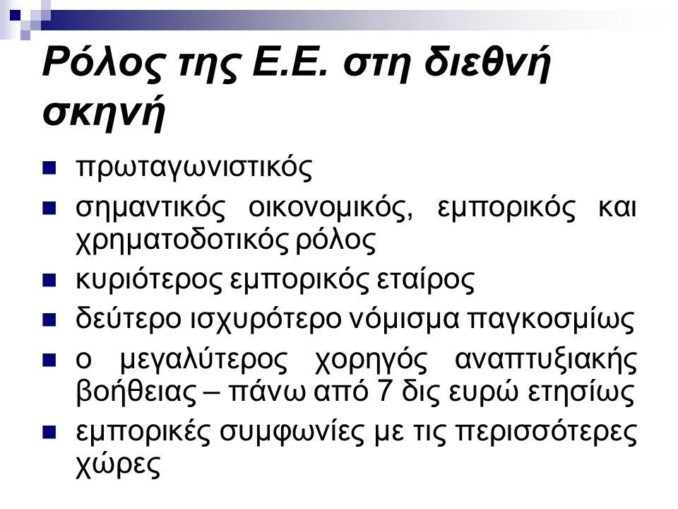 Ρόλος της Ε.Ε.