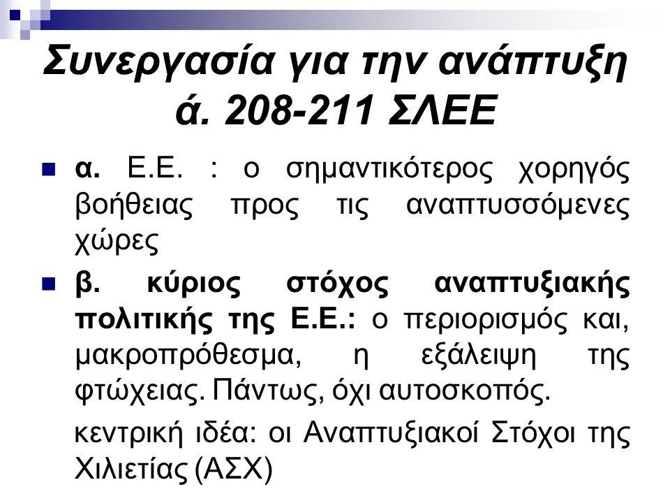 Συνεργασία για την ανάπτυξη ά. 208-211 ΣΛΕΕ α. Ε.Ε.