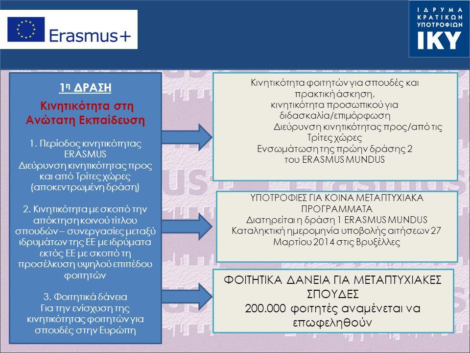  Το κονδύλι της οργανωτικής υποστήριξης υπολογίζεται βάσει κατ' αποκοπή ποσών ανά μετακινούμενο, ανά κλίμακα  ERASMUS+: Το ποσό ανά μετακινούμενο καθώς και οι κλίμακες, καθορίζονται από την Ευρωπαϊκή Επιτροπή  1 η Κλίμακα: 1-100 μετακινούμενοι – 350 € /ανά μετακινούμενο  2 η Κλίμακα: >100 μετακινούμενοι – 200 €/ανά μετακινούμενο  Το κονδύλι της οργανωτικής υποστήριξης στο νέο πρόγραμμα ERASMUS+ είναι ΔΙΠΛΑΣΙΟ από αυτό του LLP ΟΡΓΑΝΩΤΙΚΗ ΥΠΟΣΤΗΡΙΞΗ (I) Χρηματοδότηση ΝΕΟ