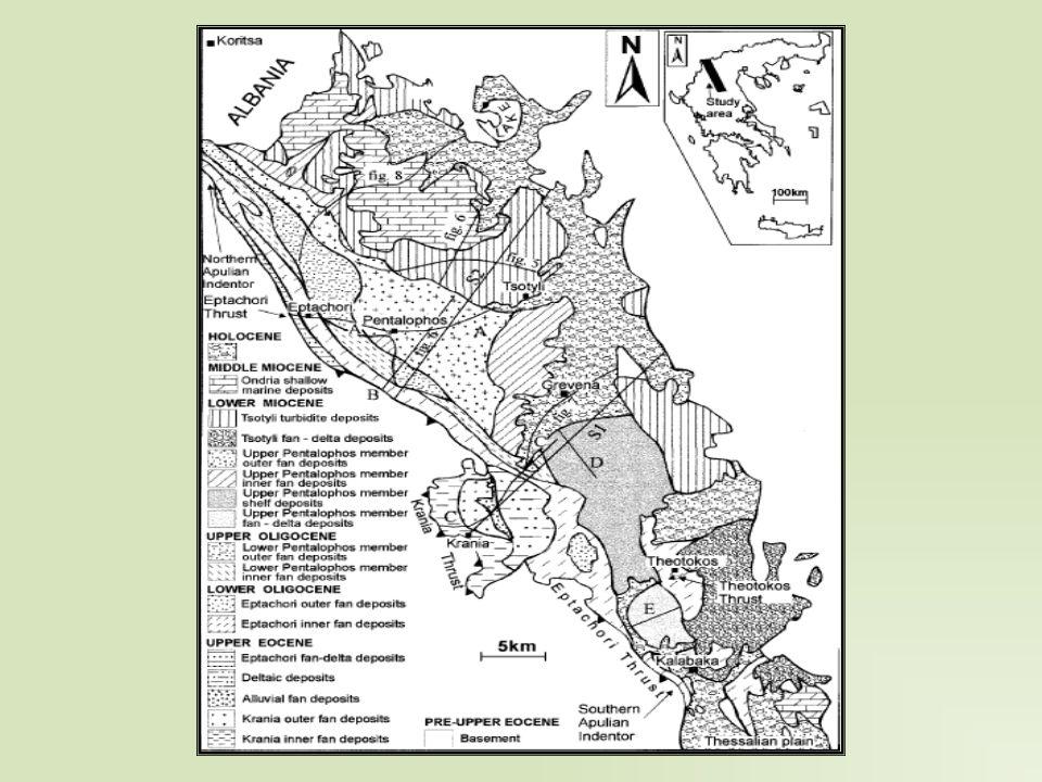 ΠΕΡΙΒΑΛΛΟΝΤΑ-ΕΞΕΛΙΞΗ Στη συνέχεια η τεκτονική μεταναστεύει προς τα ανατολικά (πλέον λειτουργεί μόνο η επώθηση της Θεοτόκου) και στο στενό της Καλαμπάκας αποτίθενται δελταϊκά ριπίδια τύπου Gilert.