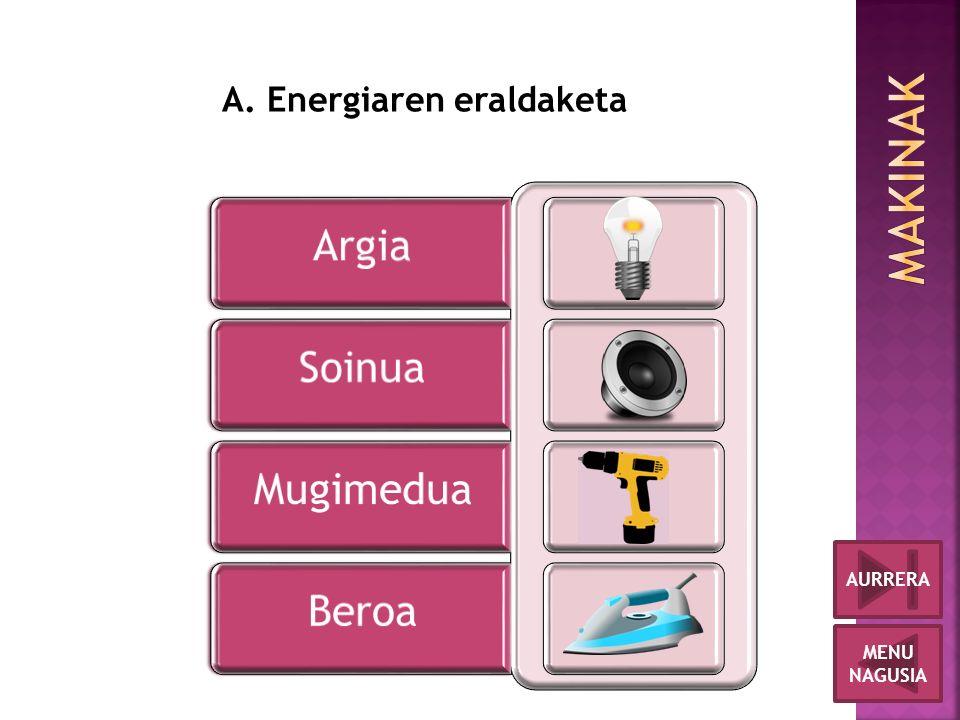 MENU NAGUSIA AURRERA A. Energiaren eraldaketa