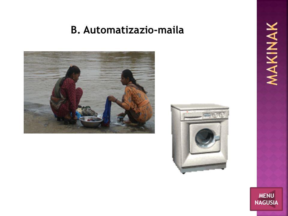 MENU NAGUSIA B. Automatizazio-maila