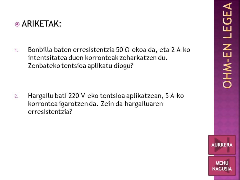  ARIKETAK: 1.