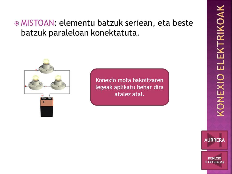  MISTOAN: elementu batzuk seriean, eta beste batzuk paraleloan konektatuta.