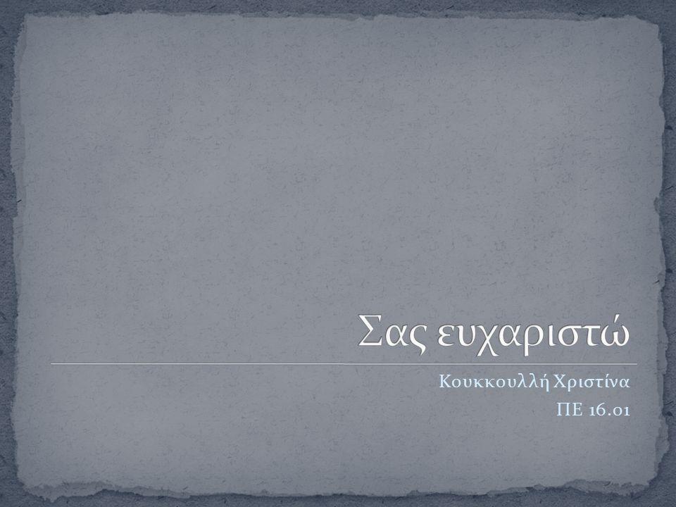 Κουκκουλλή Χριστίνα ΠΕ 16.01