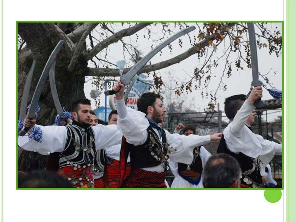 Μία ομάδα νέων του κάθε χωριού ντυνόταν με ελληνικές παραδοσιακές φορεσιές (φουστανέλα) κι αποτελούσαν το Ρουγκάτσι του χωριού.