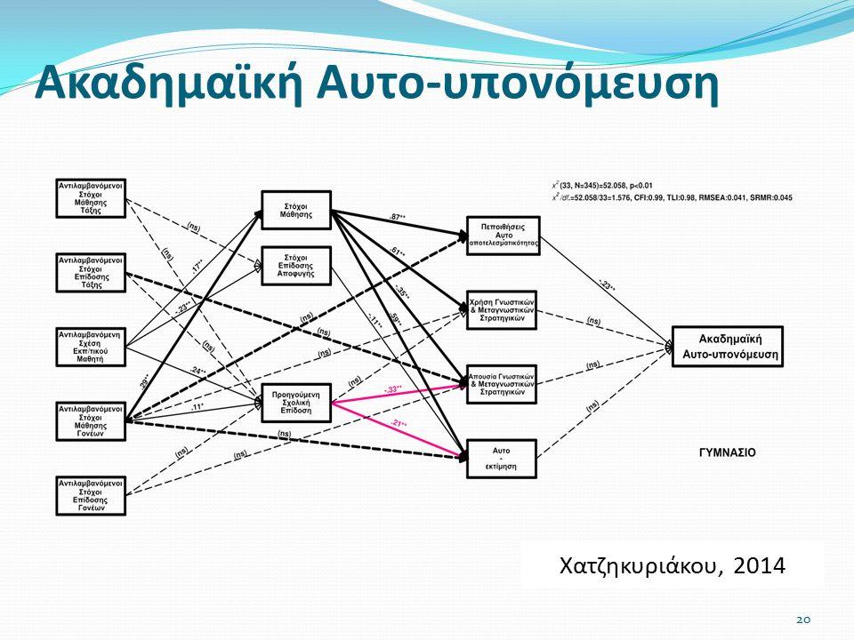 Ακαδημαϊκή Αυτο-υπονόμευση 20 Χατζηκυριάκου, 2014
