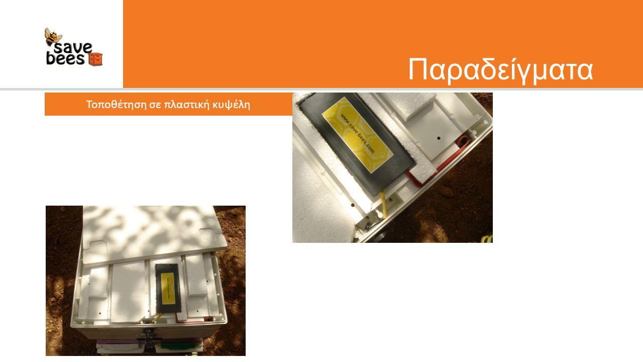 Παραδείγματα Τοποθέτηση σε πλαστική κυψέλη