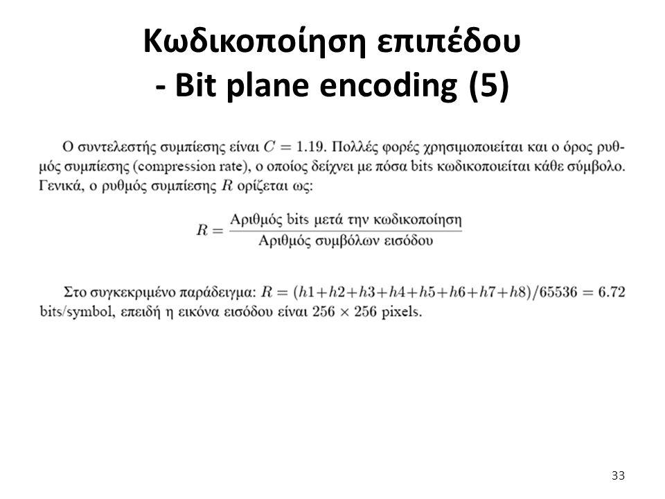 Κωδικοποίηση επιπέδου - Bit plane encoding (5) 33
