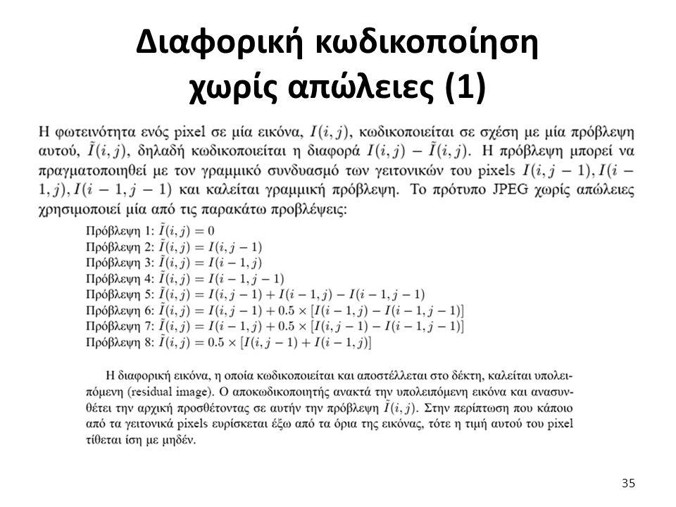 Διαφορική κωδικοποίηση χωρίς απώλειες (1) 35