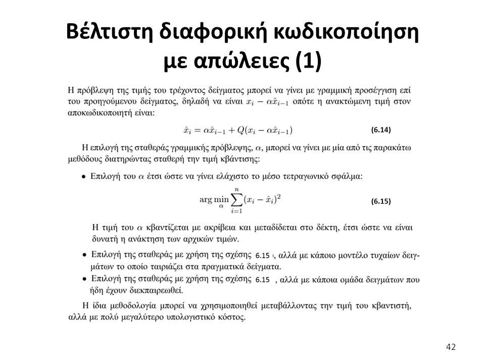 Βέλτιστη διαφορική κωδικοποίηση με απώλειες (1) 42