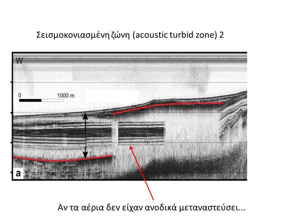 Σεισμοκονιασμένη ζώνη (acoustic turbid zone) 2 Αν τα αέρια δεν είχαν ανοδικά μεταναστεύσει...