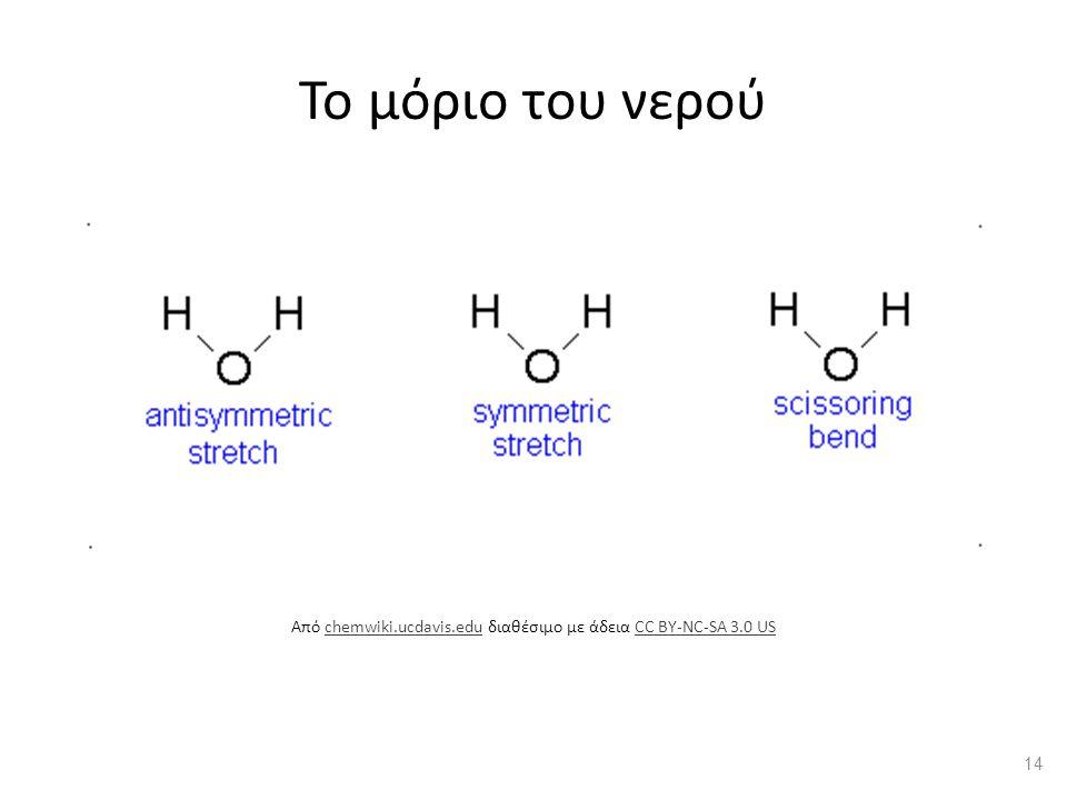 Το μόριο του νερού Από chemwiki.ucdavis.edu διαθέσιμο με άδεια CC BY-NC-SA 3.0 USchemwiki.ucdavis.eduCC BY-NC-SA 3.0 US 14