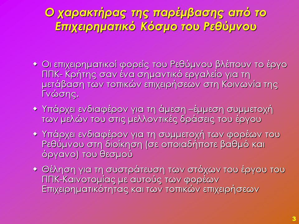 4 Πως πρέπει να λειτουργεί ο ΠΠΚ-Κρήτης; Ο ΠΠΚ- Κρήτης θα πρέπει να λειτουργεί και να στηρίζεται προς όφελος των επιχειρήσεων και των clusters και να δίνει προστιθέμενη αξία στα προϊόντα και τις υπηρεσίες που δημιουργούνται από τις επιχειρήσεις.